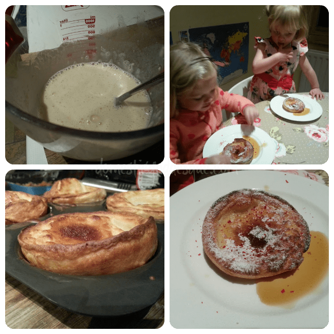 Yorkshire pudding with Maple Syrup