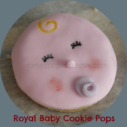 How to make Royal Baby Cookie Pops