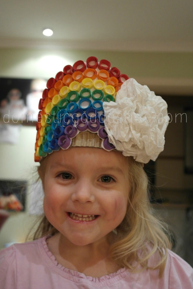 Quilled card rainbow birthday crown