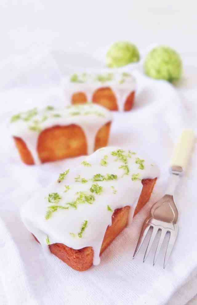 mini lime and yoghurt loaf cakes