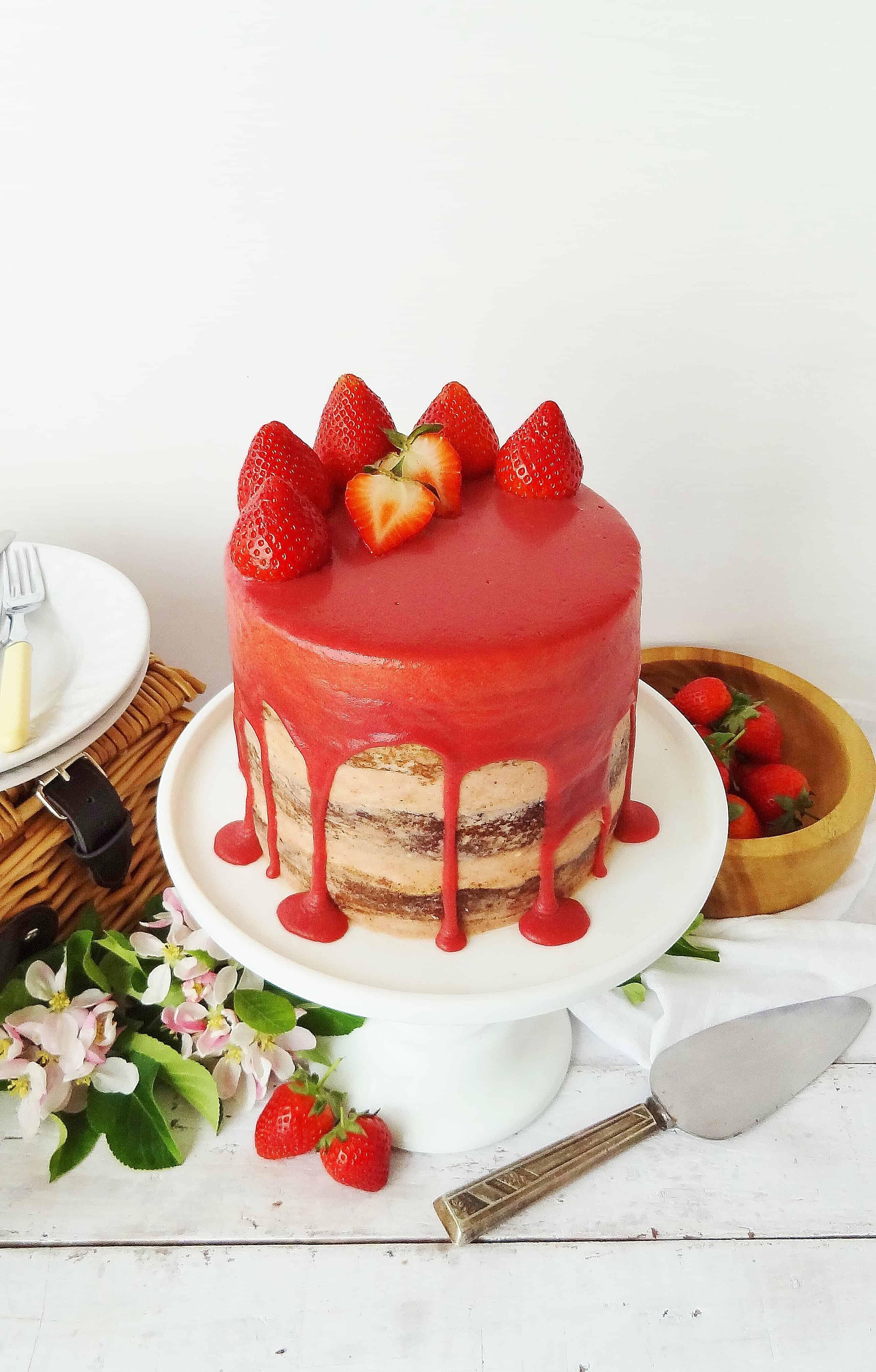 Roasted Almond Chocolate Cake Recipe