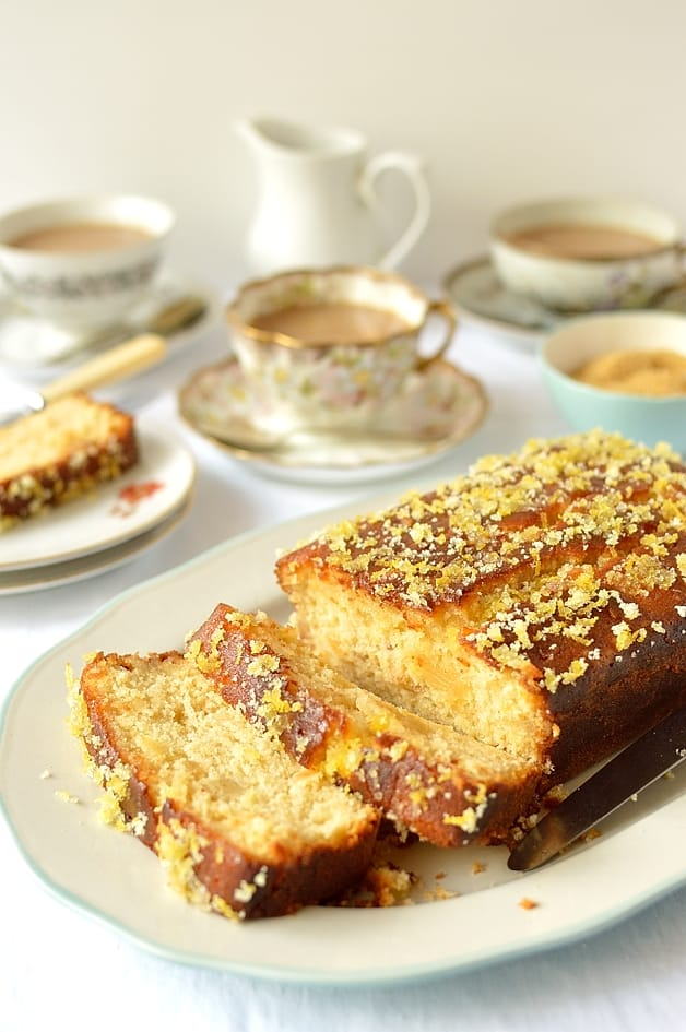 Lemon & ginger drizzle loaf cake - Domestic Gothess