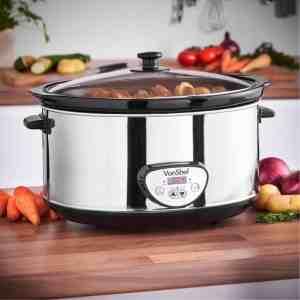 vonshef 6.5 litre digital slow cooker