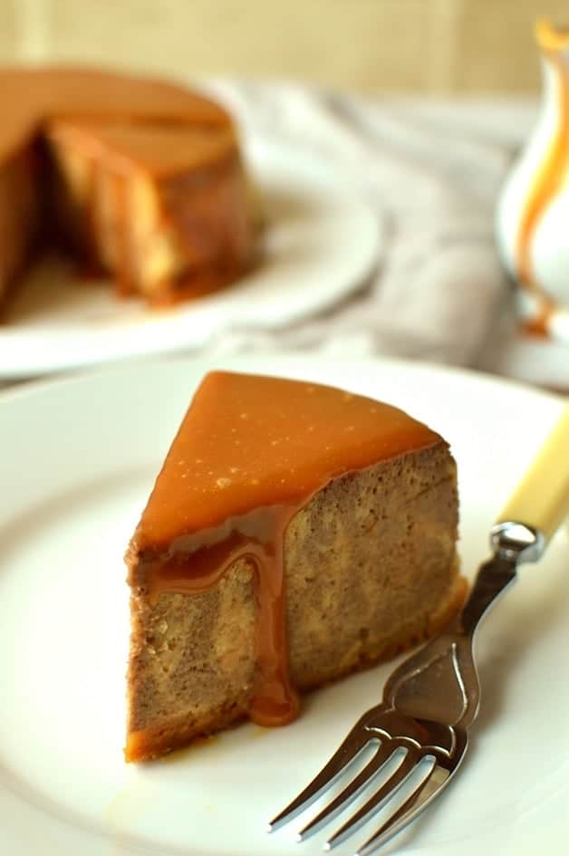 Slow cooker chocolate caramel ginger baked cheesecake - Domestic Gothess
