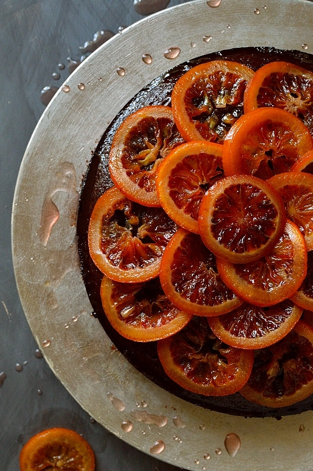 ... olive oil cake with candied blood oranges and orange rosemary syrup