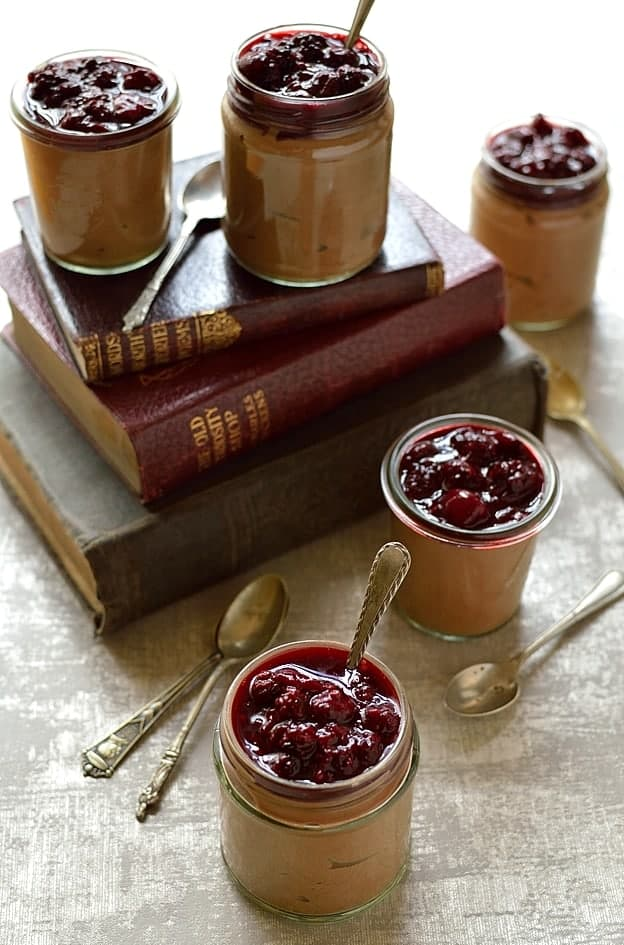 Chocolate Yogurt Mousse With Vanilla Cherry Compote Recipes ...