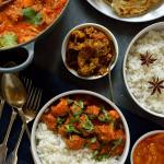 Slow cooked lamb Rogan Josh curry with quick, easy, flaky roti style flatbreads