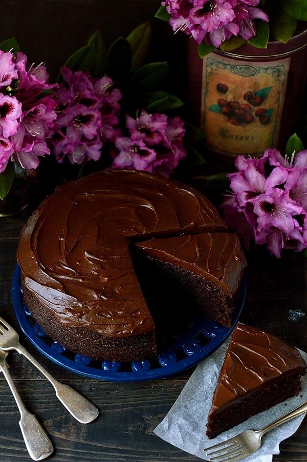 Chocolate stout cake with stout ganache