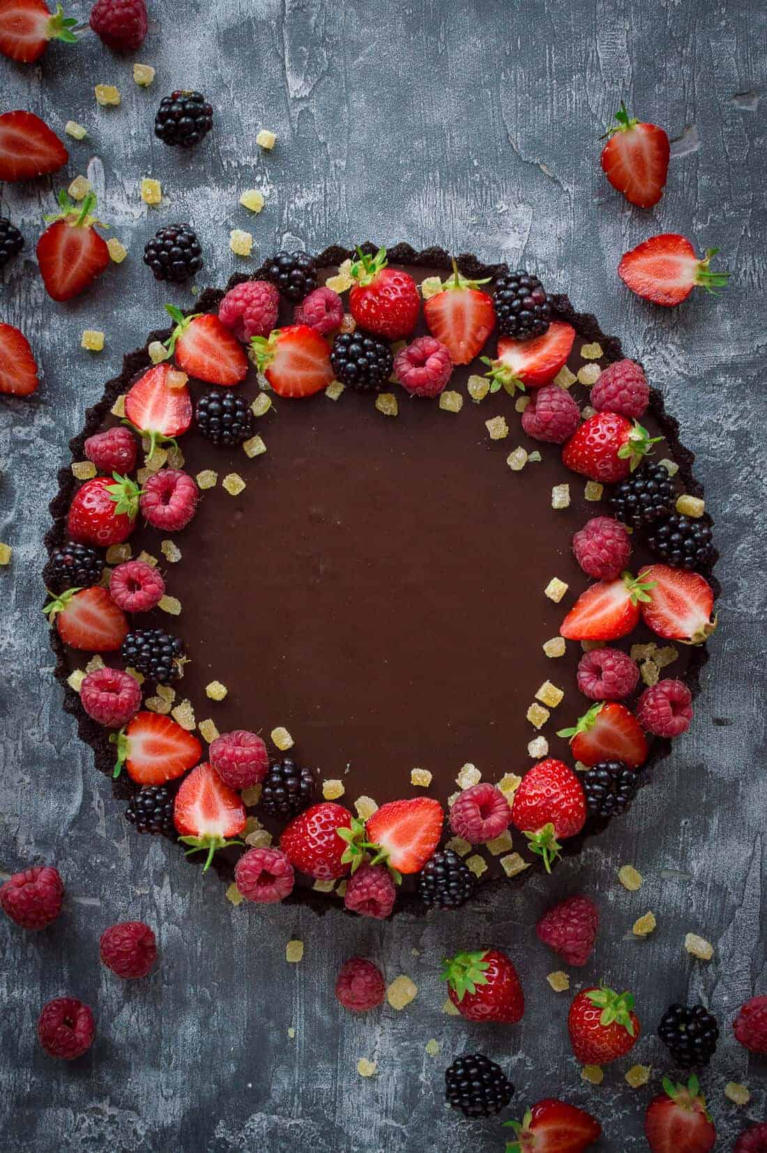 Vegane Oreo Torte No Bake Chocolate Tart With Stem Ginger Vegan