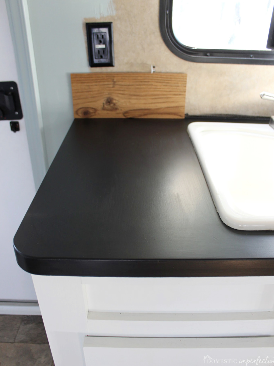 Painting Laminate Countertops With Chalkboard Paint Domestic Imperfection