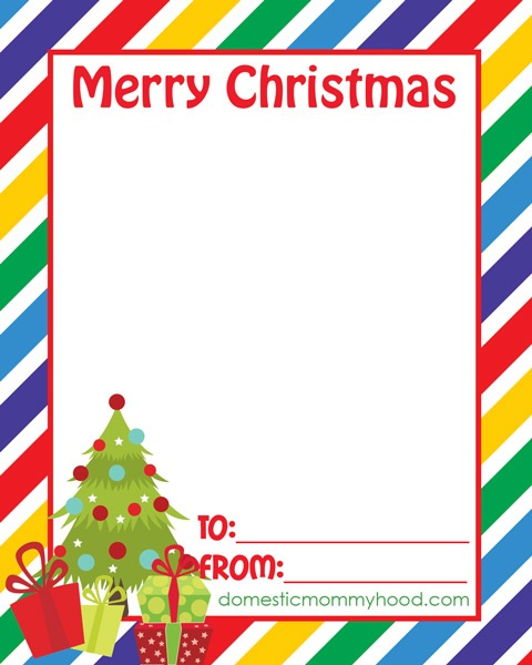Free Printable Class Christmas Cards Great for Attaching Candy or - christmas card printable