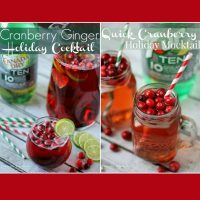 Cranberry Ginger Cocktail & Quick Cranberry Holiday Mocktail Recipes #drinkTEN