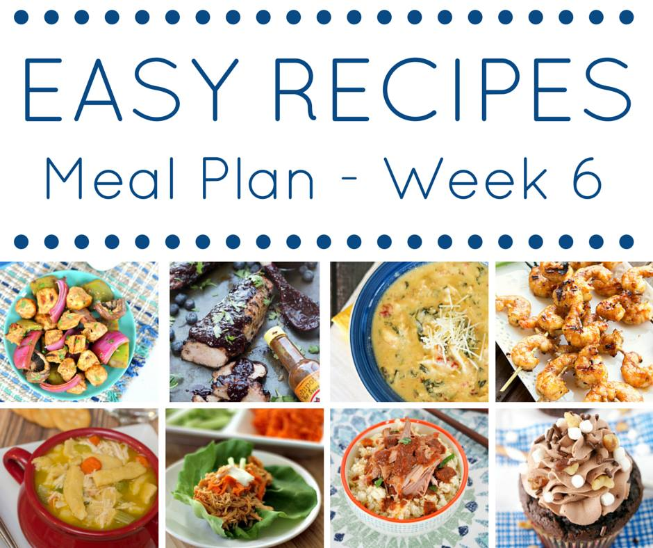 The Easy Dinner Recipes Meal Plan \u2013 Week 6 \u2022 Domestic Superhero - how to plan weekly meals for two