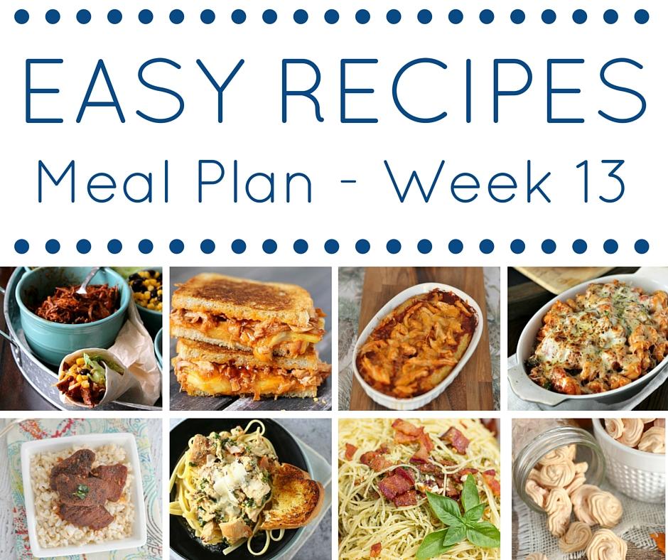 Easy Dinner Recipes Meal Plan - Week 13 \u2022 Domestic Superhero