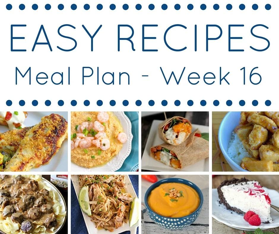 Easy Dinner Recipes Meal Plan \u2013 Week 16 \u2022 Domestic Superhero