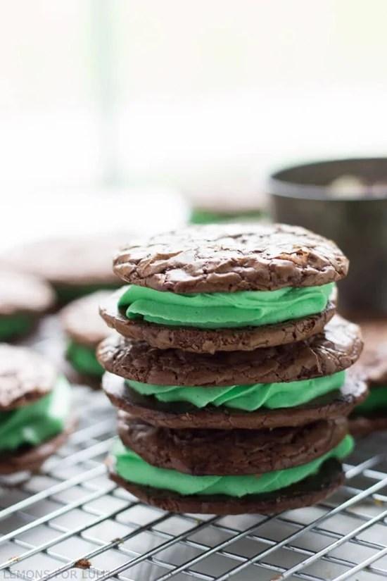 Chocolate Mint Sandwich Cookies by Lemons for Lulu