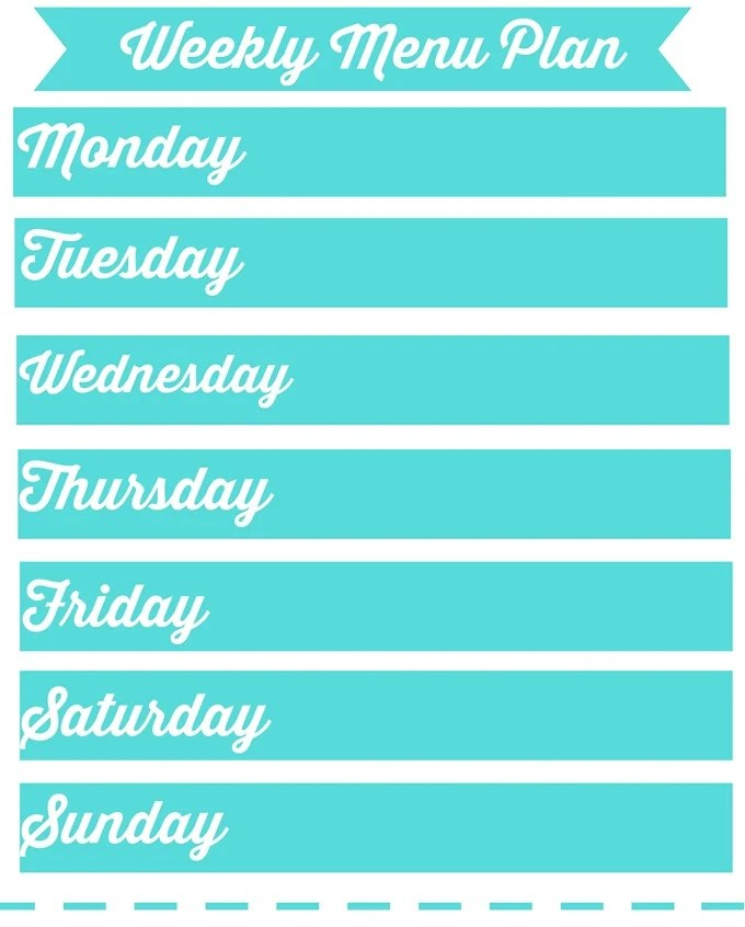 Southwestern Style Chicken  FREE Printable Weekly Meal Plan - printable weekly meal plan