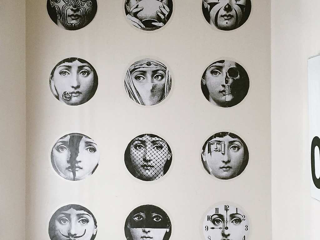 Fornasetti Face Wallpaper Fornasetti Wallpaper Faces Home Decorating Ideas