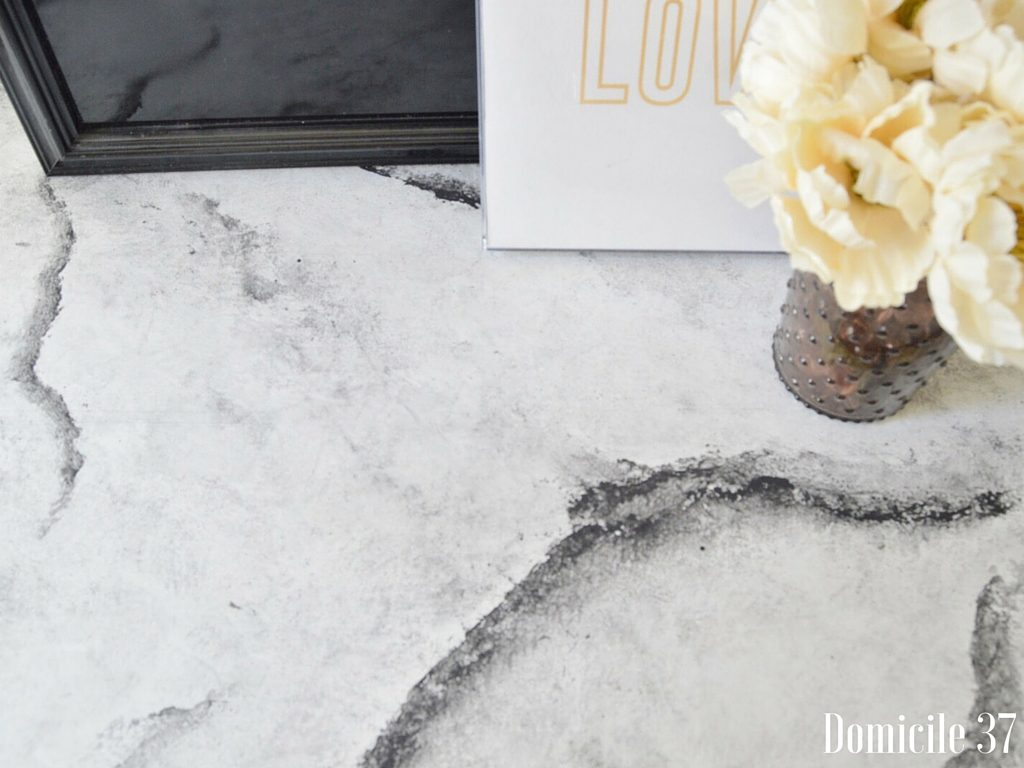 Diy Faux Marble Top Using Chalk Paint Domicile 37
