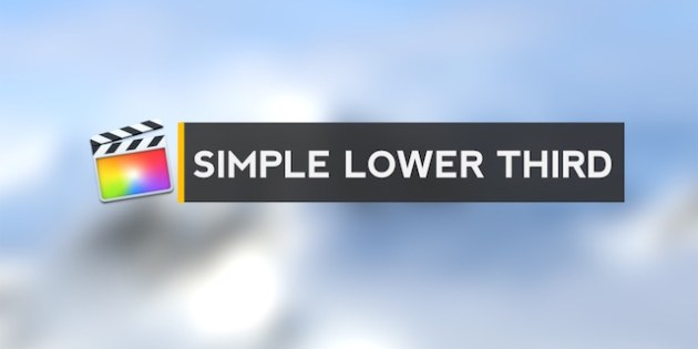 simple lower third free final cut pro x