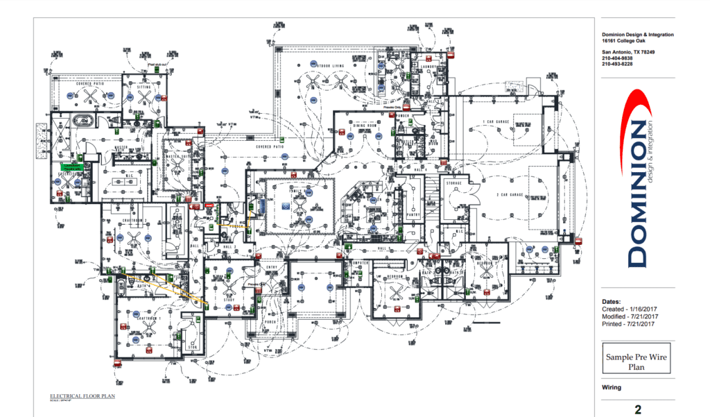 custom smart home automation wiring plan