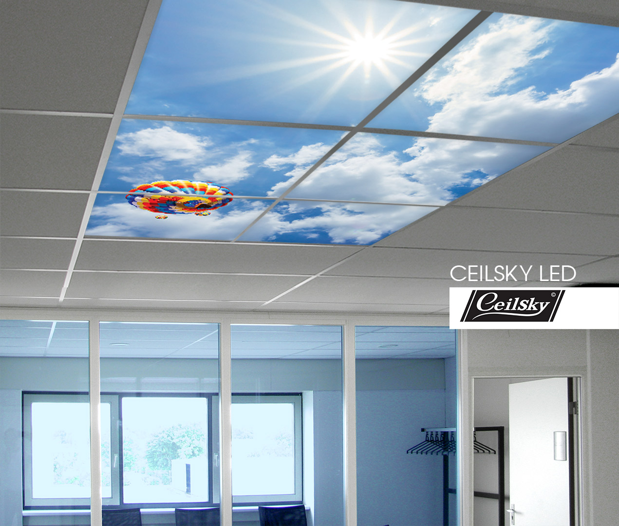 Systeemplafond Led Verlichting Ceilsky Led Fotoplafond In Systeemplafond Wolkenplafond Met Led