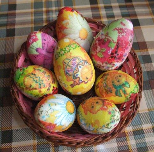 пасхальные яйца - декор в технике декупаж