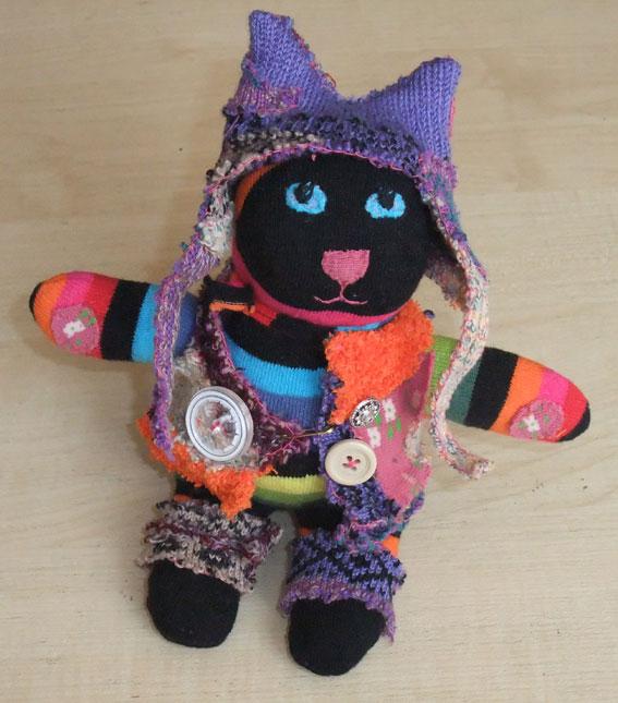 винтажный кот из носков