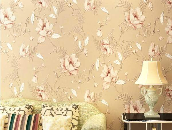 American-country-vintage-floral-wallpaper-rendering