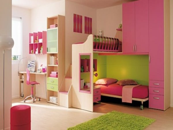 Twin-girl-bedroom-designs-Cool-Ideas-for-pink-girls-bedrooms-with-twin-beds