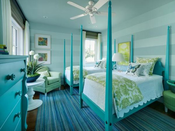 bedroom-for-two-turquoise-green