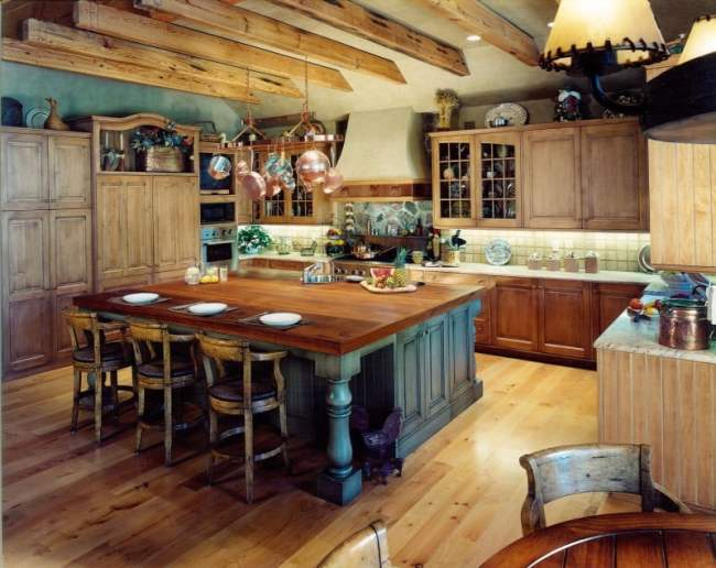 kitchen-modern-u-shape-kitchen-design-ideas-using-wooden-kitchen-ceiling-including-square-grey-wood-custom-made-kitchen-island-and-rustic-solid-wood-tall-kitchen-chairs-inspiring-kitchen-design