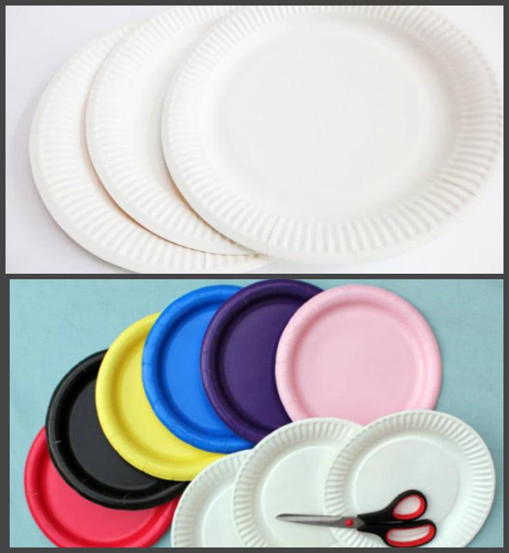 Все поделки из пластмассовых тарелок 569
