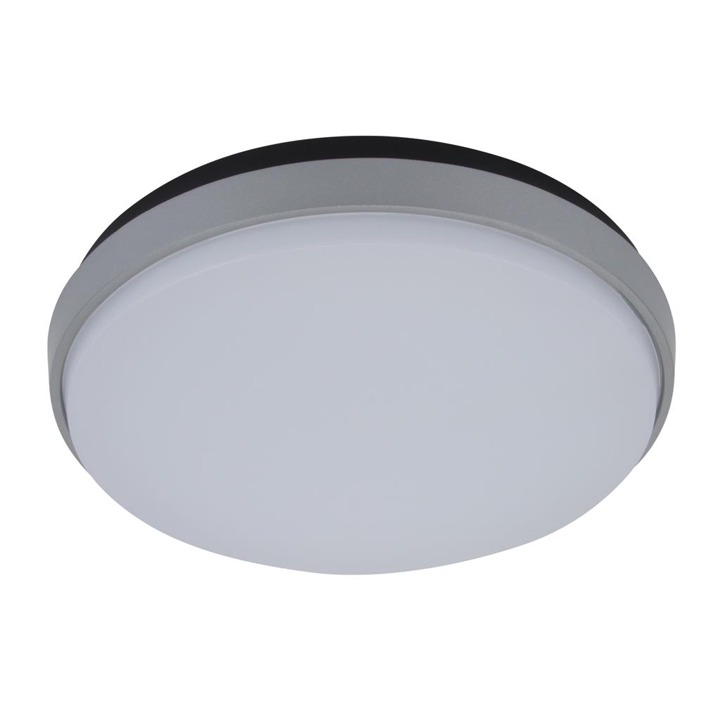 Decorative Ceiling Discs Disc 300 Round 30w Splashproof Led Ceiling Light Silver