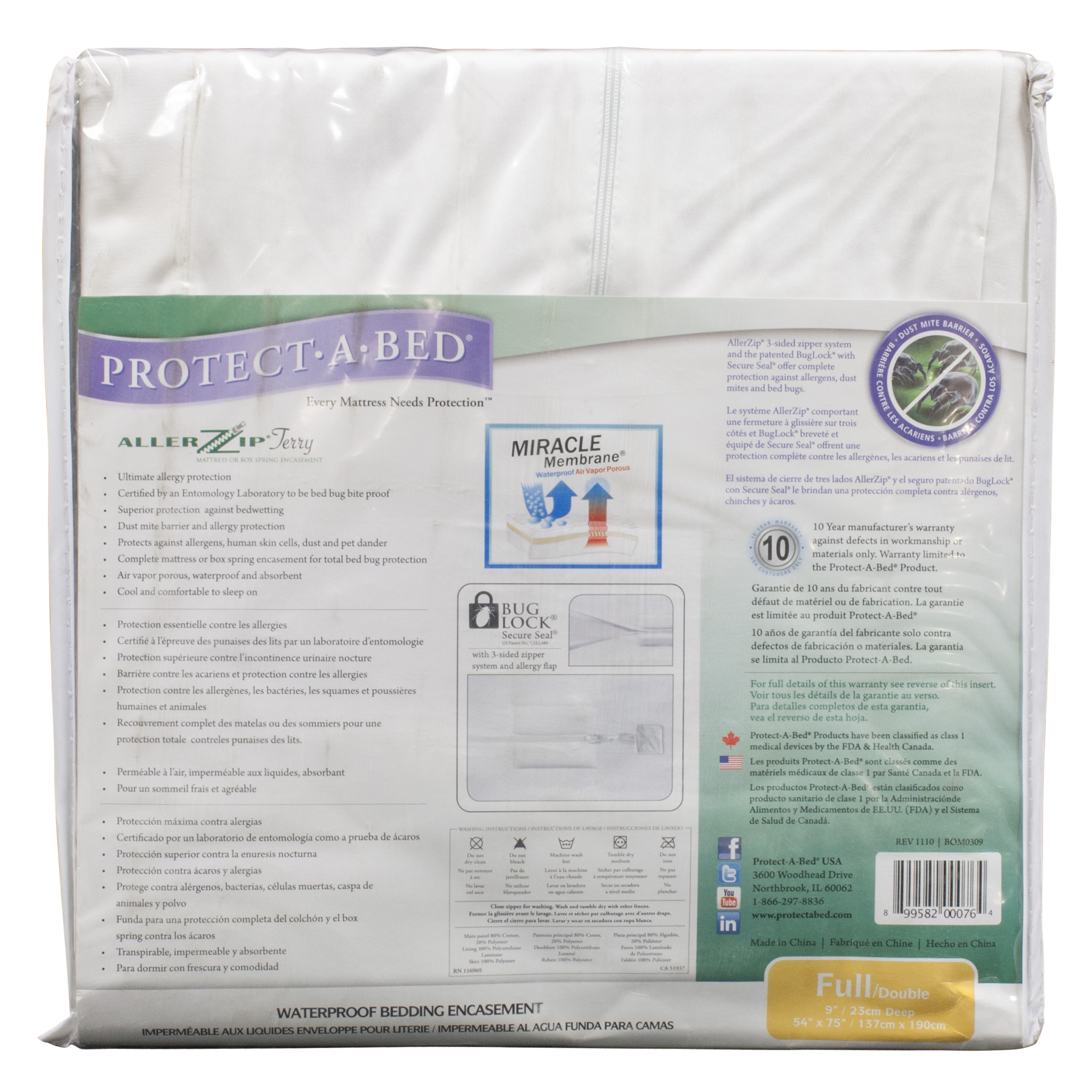 Bed Bugs Mattress Cover Protect A Bed Allerzip Bed Bug Mattress Cover Full