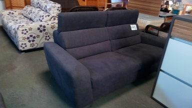 Three Seater Sofa with Adjustable Headrests - Roma