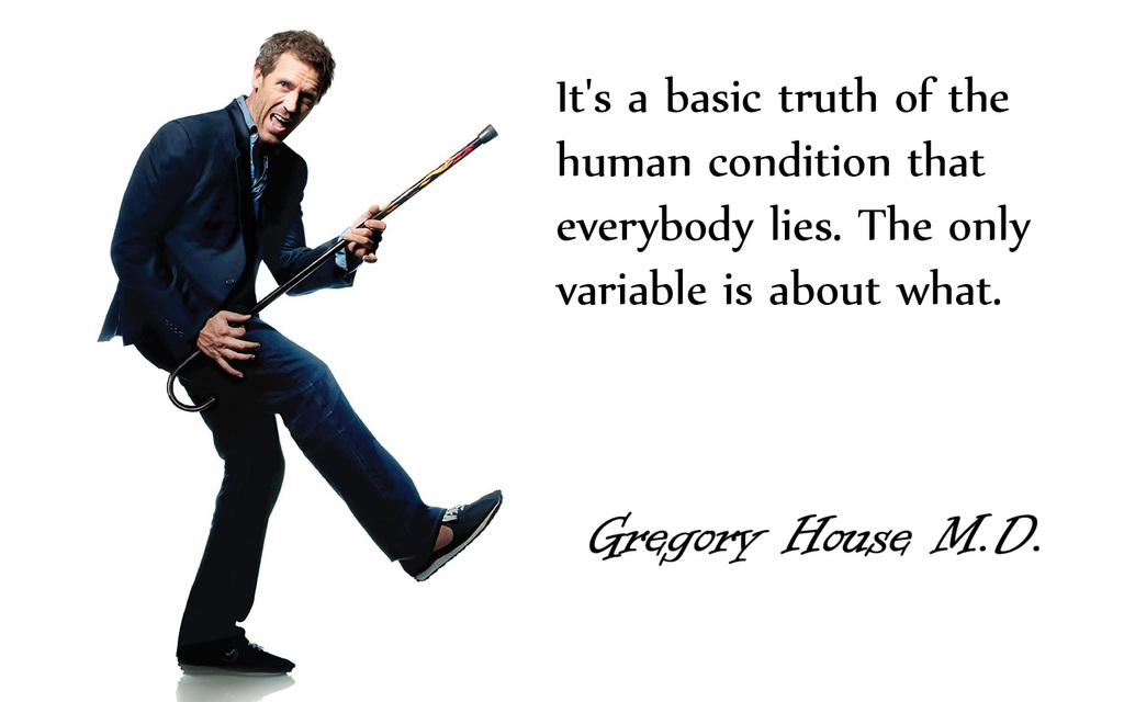 Hugh Laurie Quotes Wallpaper It S A Basic Truth Gregory House A Pondering Mind