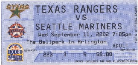 1-Balllpark at Arlington ticket 2