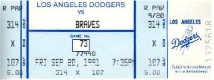 1-Dodger Stadium ticket 1