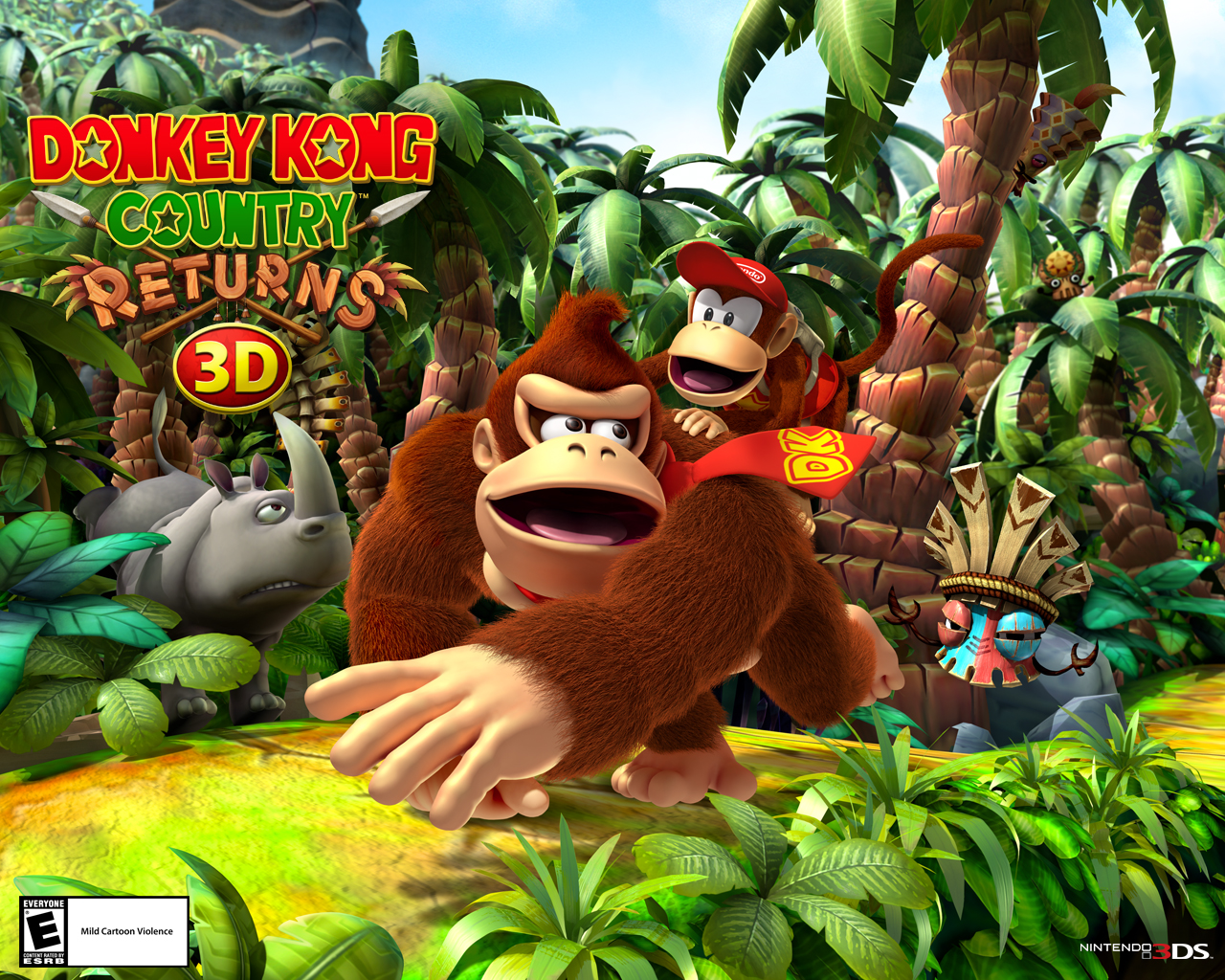 3d Wallpapers Buy Online Wallpapers Donkey Kong Country Returns 3d For Nintendo 3ds