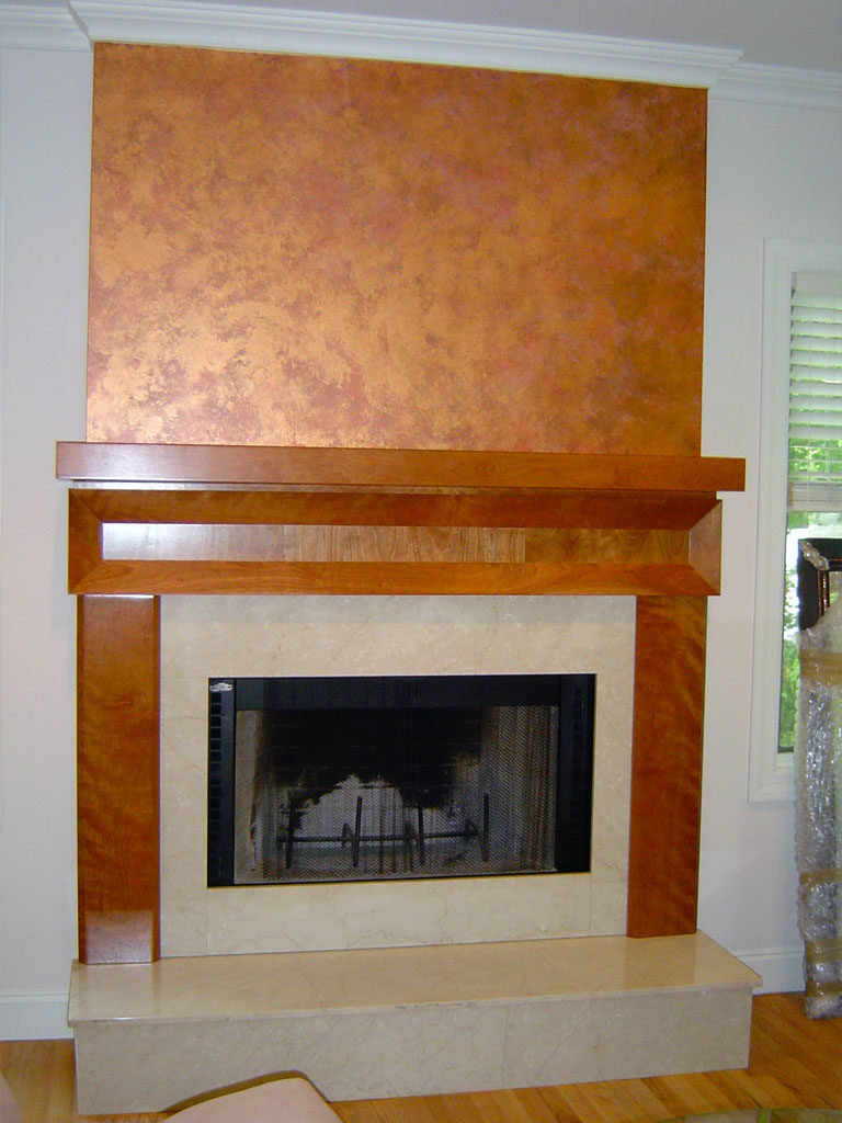 Copper Fireplace Mantel Metallic Finishes Painting In Nj Nyc Elegant Metallic Faux