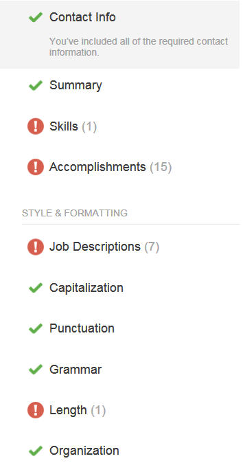 resume rating tool