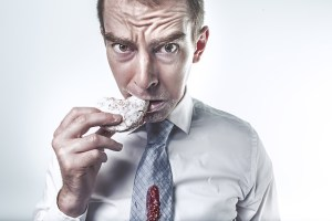 don't eat at a trade show booth
