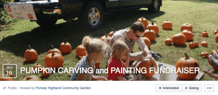 Pumpkin carving - thanksgiving fundraising