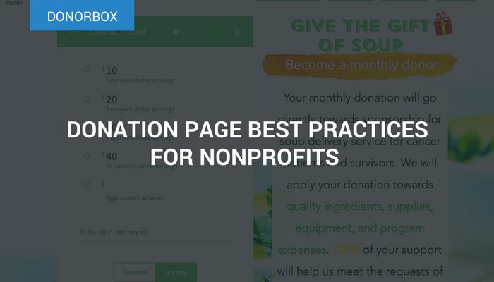 Donation page best practices