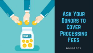 donors to cover processing fees