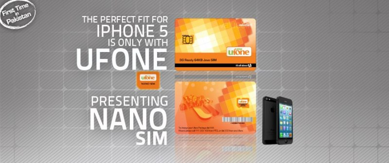 Ufone launches Nano Sim for iPhone 5 in Pakistan