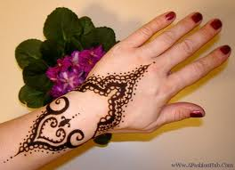 Simple Mehndi Designs For college girls