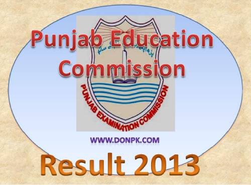 Punjab Education Commission Multan board 8th class result 2013