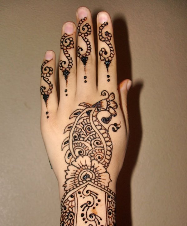 Simple Arabic Mehndi Art 2013